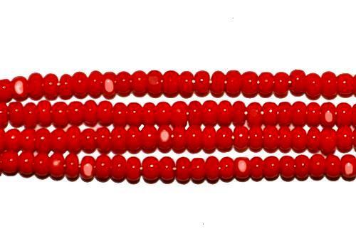 Best.Nr.:77026  Cut Rocailles / Charlottes (angeschliffene Rocailles) von Ornella/Preciosa Tschechien  rot opak
