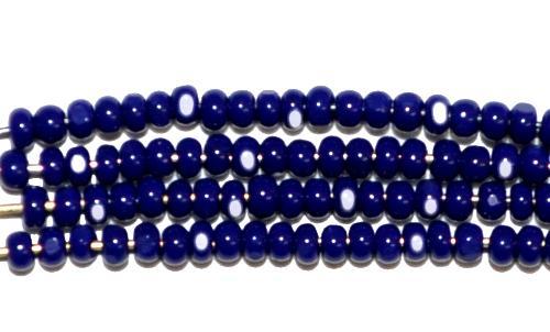 Best.Nr.:77055 Cut Rocailles / Charlottes (angeschliffene Rocailles) von Ornella/Preciosa Tschechien  dunkelblau opak