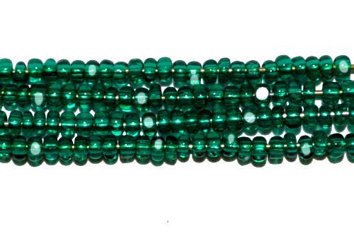 Best.Nr.:77063 Cut Rocailles / Charlottes (angeschliffene Rocailles) von Ornella/Preciosa Tschechien  grün transp.