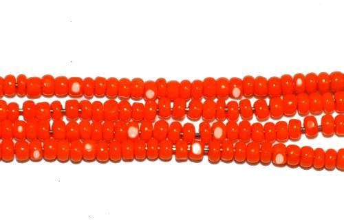 Best.Nr.:77068  Cut Rocailles / Charlottes (angeschliffene Rocailles) von Ornella/Preciosa Tschechien  orangegelb opak