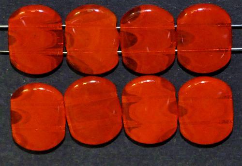Best.Nr.:79003  Glasperlen mit zwei Löchern,  orange,  hergestellt in Gablonz / Tschechien