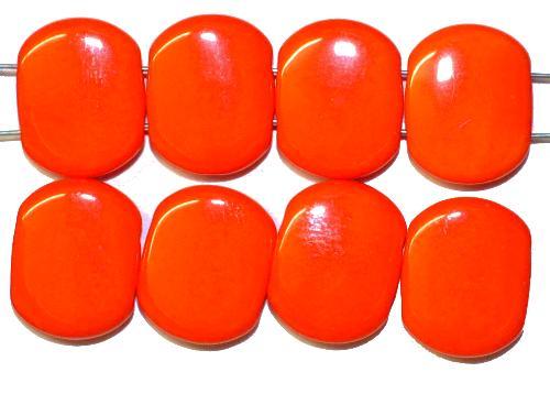Best.Nr.:79019  Glasperlen mit zwei Löchern,  orange opak,  hergestellt in Gablonz / Tschechien