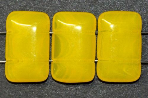 Best.Nr.:79022  Glasperlen gelb  mit zwei Löchern,  hergestellt in Gablonz / Tschechien