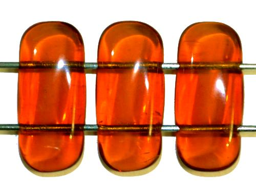 Best.Nr.:79029  Glasperlen mit 2 Löchern  topas transp.,  hergestellt in Gablonz / Tschechien