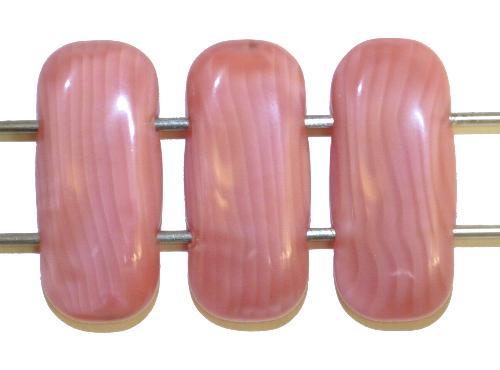 Best.Nr.:79035 Glasperlen mit zwei Löchern  rosa Perlettglas,  hergestellt in Gablonz / Tschechien