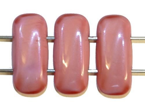 Best.Nr.:79036 Glasperlen mit zwei Löchern  altrosa opak,  hergestellt in Gablonz / Tschechien