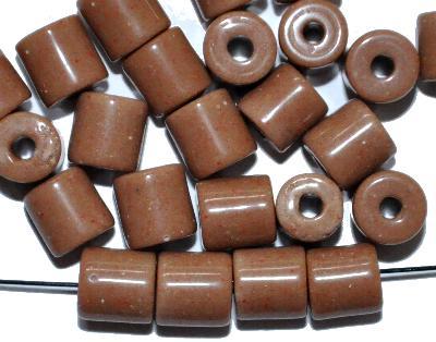 Best.Nr.:63803 Glasperlen ( tilt-beads ) in den 1920/30 Jahren in Gablonz/Böhmen hergestellt, camel