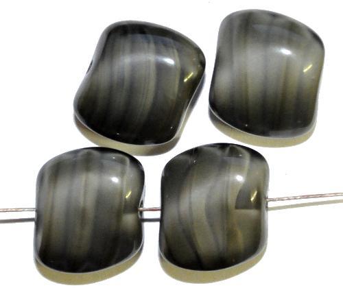 Best.Nr.:57471 GlasperlenNugetts Perlettglas grau, hergestellt in Gablonz / Tschechien
