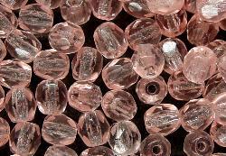 Best.Nr.:27003 facettierte Glasperlen rose transparent, hergestellt in Gablonz / Tschechien