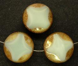 Best.Nr.:67272 Glasperlen / Table Cut Beads Opalglas ecru geschliffen