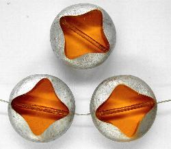 Best.Nr.:67153 Glasperlen / Table Cut Beads geschliffen topas / silber