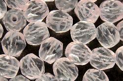 Best.Nr.:27408 facettierte Glasperlen leicht milchiges rosa