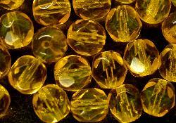 Best.Nr.:27407 facettierte Glasperlen kräftiges gelb