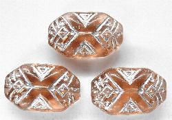 Best.Nr.:57007 Antik style Glasperlen, nach alten Vorlagen aus den 1920 Jahren neu gefertigt mit Silberauflage