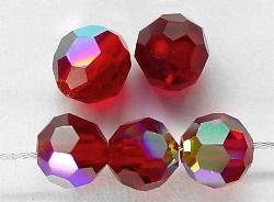 Best.Nr.:31012 mc-Schliff Glasperlen rot mit AB