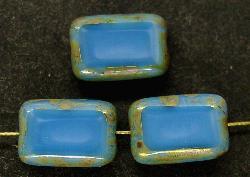 Best.Nr.:67313 Glasperlen / Table Cut Beads geschliffen mit Travertin-Veredelung