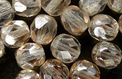 Best.Nr.:23033 facettierte Glasperlen zartapricot kristall mit lüster, hergestellt in Gablonz / Tschechien