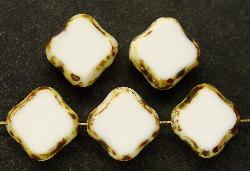 Best.Nr.:67424 Glasperlen / Table Cut Beads geschliffen mit Travertin-Veredelung