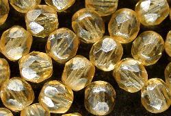 Best.Nr.:23053 facettierte Glasperlen champagner mit lüster