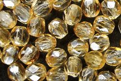 Best.Nr.:23052 facettierte Glasperlen champagner mit lüster