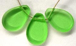 Best.Nr.:67457 Glasperlen / Table Cut Beads geschliffen Rand mattiert (frostet)