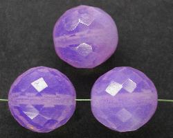Best.Nr.:26028 facettierte Glasperlen Opalglas lila