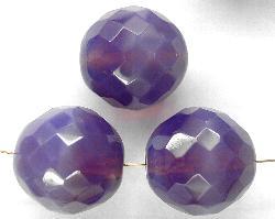 Best.Nr.:26260 facettierte Glasperlen smokyviolett opal