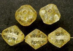 Best.Nr.:27458 geschliffene Glasperlen / crash-Beads Multi Cut Beads mit picasso finish