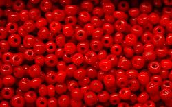 Best.Nr.:61070 Rocailles  um 1920 in Böhmen hergestellt rot opak