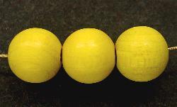 Best.Nr.:s-0024 Holzperle rund gelb hergestellt in Smržovka / Tschechien