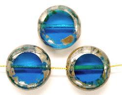 Best.Nr.:67485 Glasperlen / Table Cut Beads geschliffen mit picasso finish