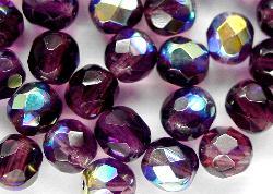 Best.Nr.:28029 facettierte Glasperlen  violett mit AB