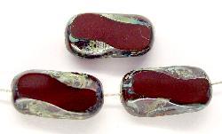 Best.Nr.:67495 Glasperlen / Table Cut Beads geschliffen, mit Travertin-Veredelung