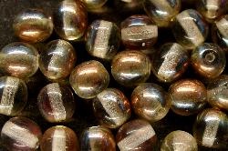 Best.Nr.:22263 Glasperlen  leicht rauchig  metallic cupfer
