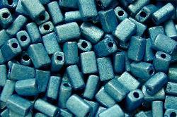 Best.Nr.:19206/100 2 cut beads von Ornella Preciosa Tschechien / metallic blau mattiert