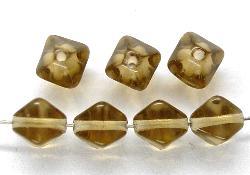 Best.Nr.:54076 Glasperlen Doppelpyramide vierkantig rauch
