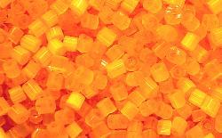 Best.Nr.:16005 Glasperlen aus Satinglas orange, hergestellt von Ornella Preciosa Tschechien,