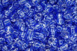 Best.Nr.:13041/100 Rocailles von Ornella Preciosa Tschechien, kristall blau gestreift