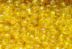 Best.Nr.:10005 Rocailles  gelb mit AB (irisierend)