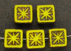 Best.Nr.:67513 Glasperlen / Table Cut Beads geschliffen mit Travertin-Veredelung, nach alten Vorlagen aus den 1920 Jahren neu gefertigt