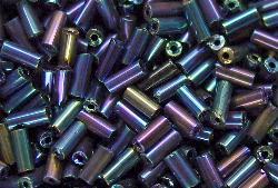 Best.Nr.:21077 Stiftperlen gunpowder metallic, von Preciosa Tschechien