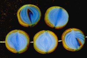 Best.Nr.:67412 Glasperlen / Table Cut Beads geschliffen mit Travertin-Veredelung