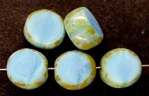 Best.Nr.:67477 Glasperlen / Table Cut Beads geschliffen mit Travertin-Veredelung
