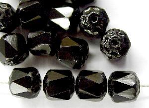 Best.Nr.:25055 facettierte Glasperlen / Barockperlen schwarz