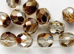 Best.Nr.:28040 facettierte Glasperlen kristall mit metallic Veredelung