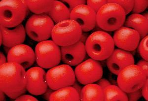 Best.Nr.:14024 Rocailles von Preciosa Tschechien rot mattiert (frostet)