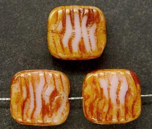 Best.Nr.:67112 Glasperlen / Table Cut Beads geschliffen mit picasso finish,  hergestellt in Gablonz Tschechien