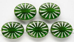 Best.Nr.:59078 Antikstyle Glasperlen, leicht mattiert mit Silberauflage