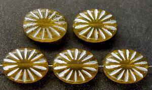 Best.Nr.:59086 Antikstyle Glasperlen, leicht mattiert mit Silberauflage