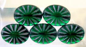 Best.Nr.:59082 Antikstyle Glasperlen, leicht mattiert mit Silberauflage